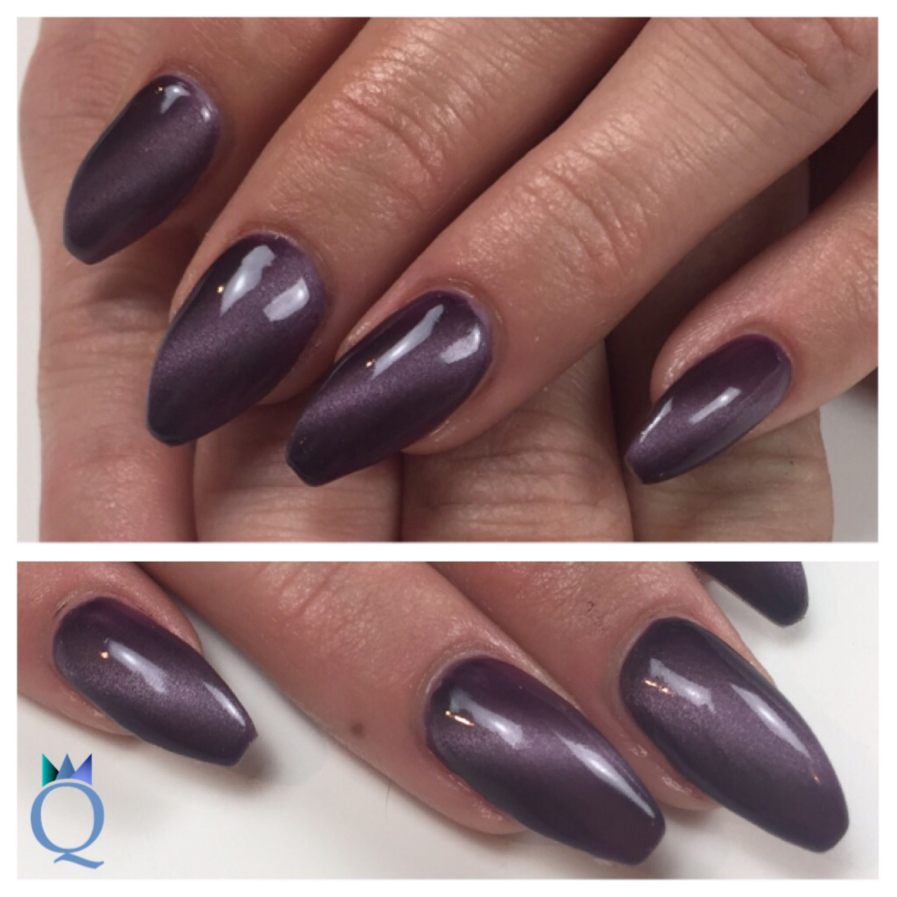 farbe von akyado coffonnails ballerinashape gelnails nails purple cateye akyado. Black Bedroom Furniture Sets. Home Design Ideas