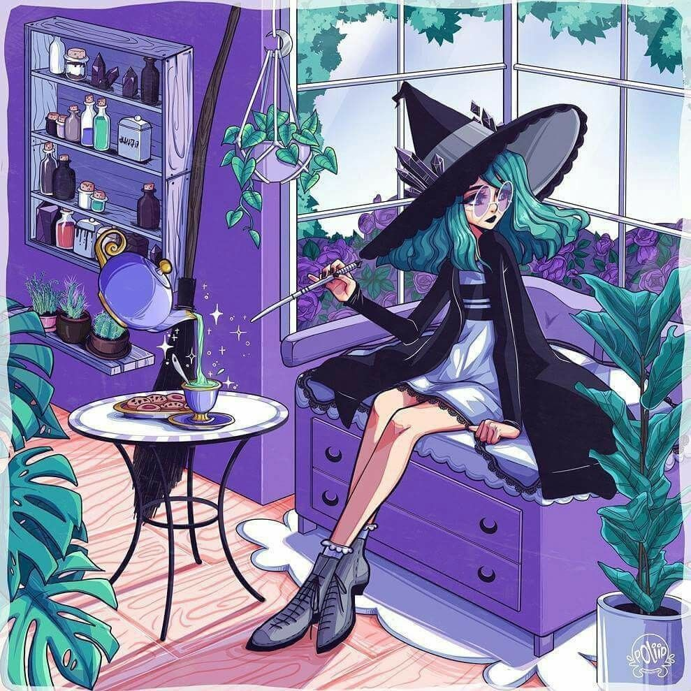 Pin By Candycane Princess On 2d Art Witch Art Witch Drawing Art