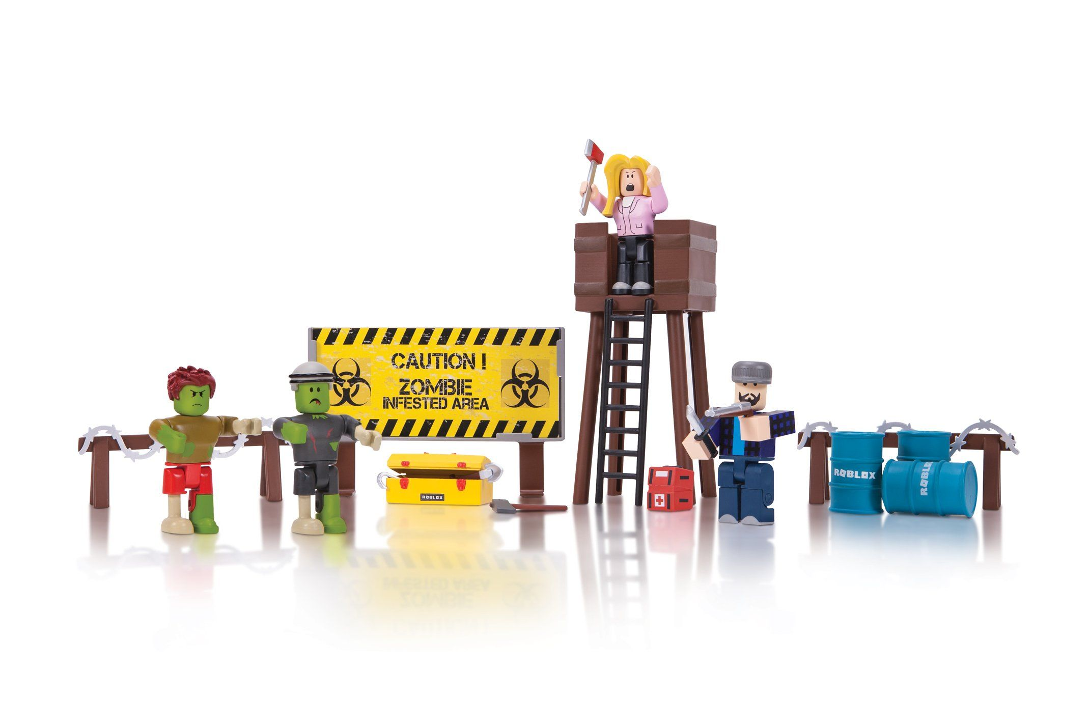 Roblox Zombie Attack Playset With Images Zombie Attack Roblox