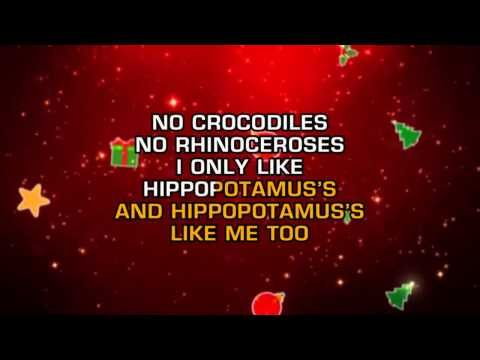Gayla Peevey I Want A Hippopotamus For Christmas Karaoke Hippopotamus For Christmas Karaoke Songs To Sing