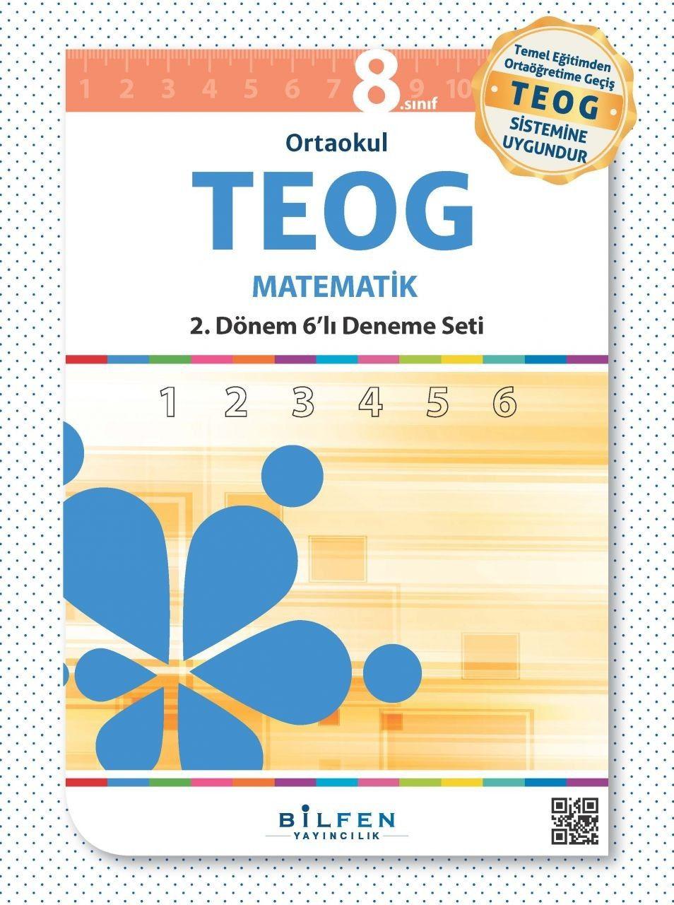 Bilfen Yayınları Ortaokul 8.Sınıf TEOG 2.Dönem Matematik 6 Deneme Seti