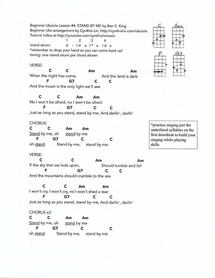 Stand By Me With Images Ukulele Chords Songs Ukulele Songs