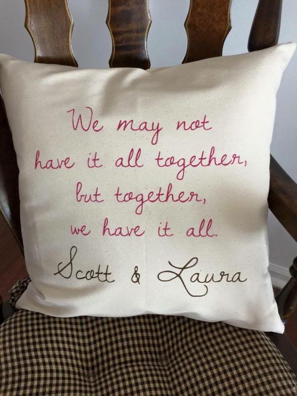 Together pillow from Thirty-One