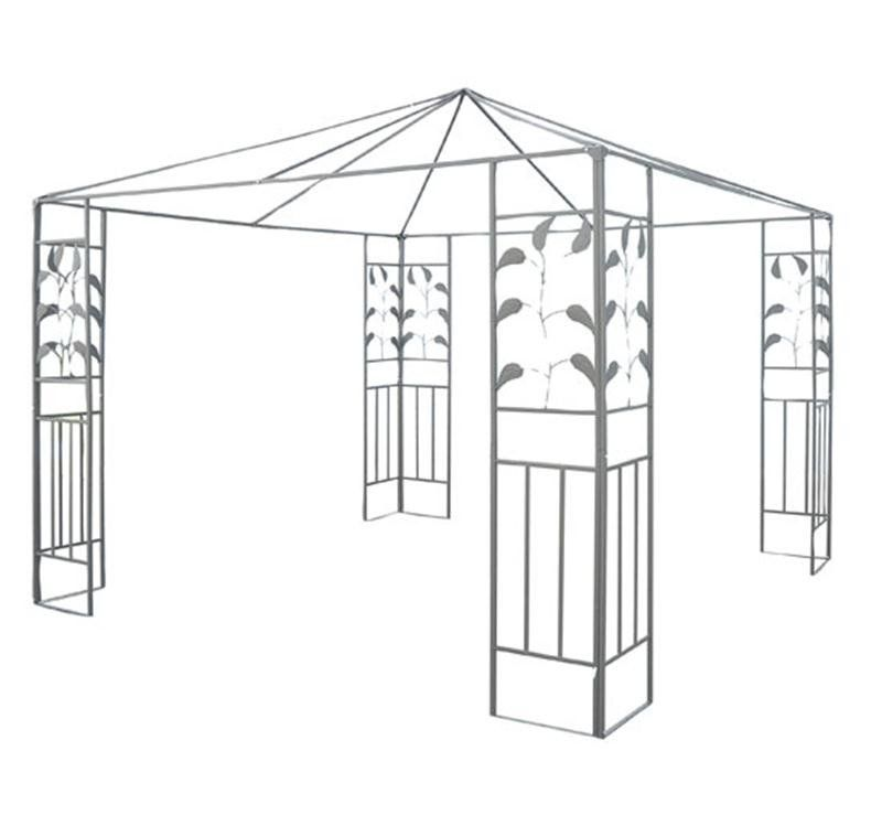Outsunny 10u0027 x 10u0027 Steel Gazebo Frame - Leaf Design  sc 1 st  Pinterest & Outsunny 10u0027 x 10u0027 Steel Gazebo Frame - Leaf Design | Steel gazebo ...