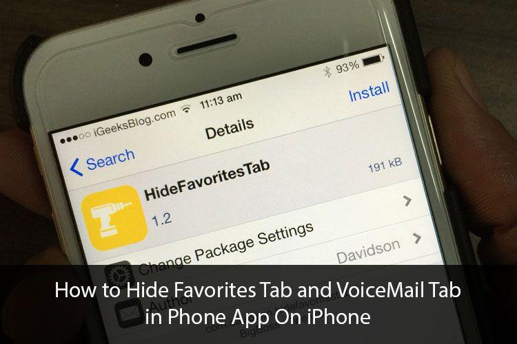 Hide favorites tab and voicemail tab in phone app on