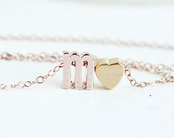 Rose Gold Heart Necklace Hammered Rose Gold Heart by PROJECTDAHLIA