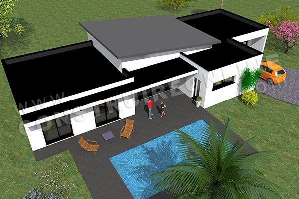 plan de maison monopente ETNA 4 Nouvelle maison Pinterest