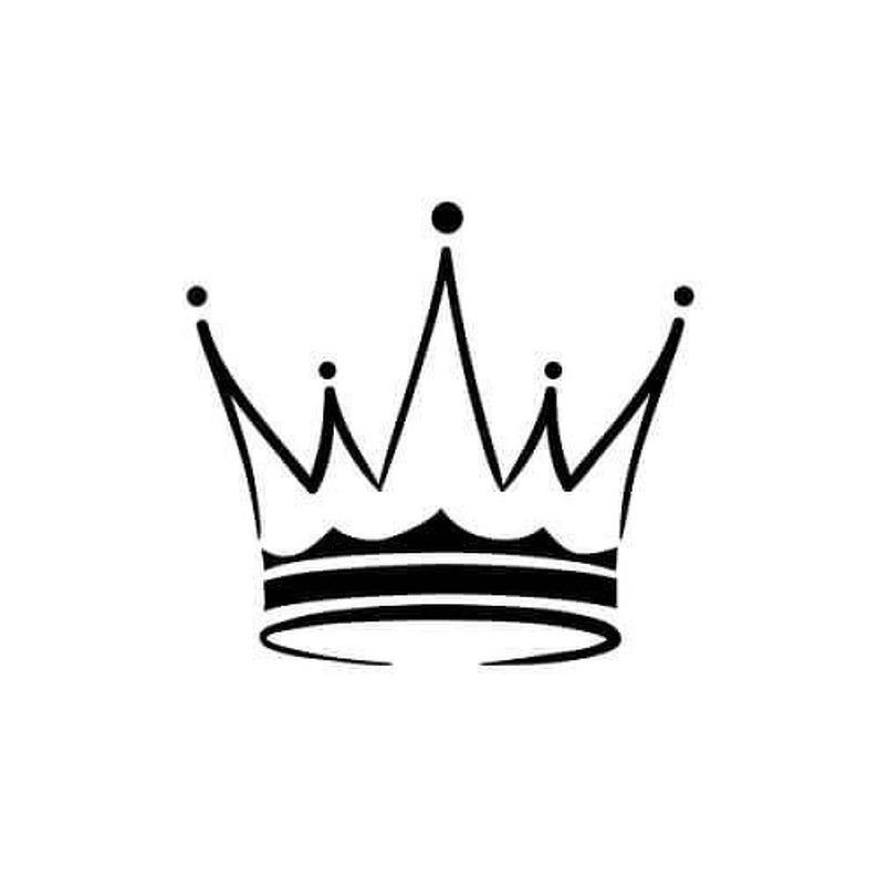 Read the full title King crown temporary tattoo