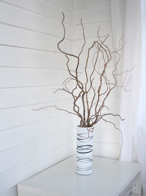 Curly Willow Vase With Branches Winter Home Decor Branch Decor