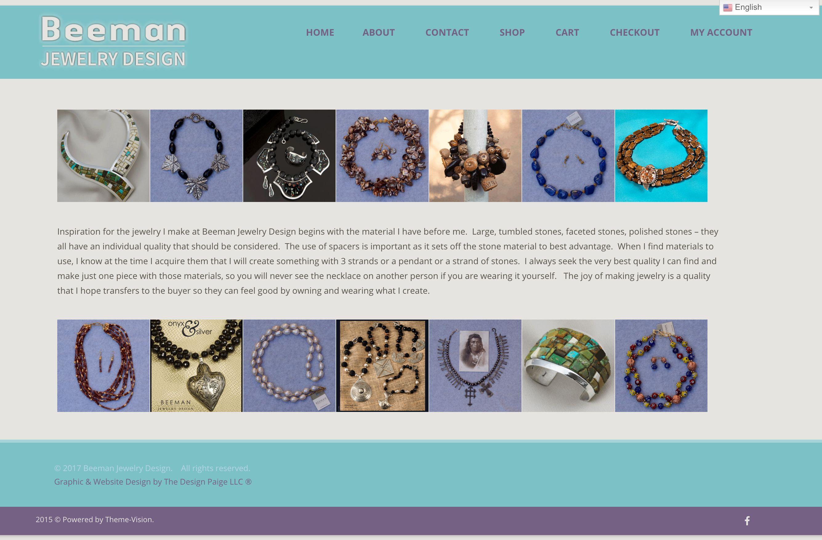 Beeman Jewelry Design Has A New Website Created By The Design Paige Llc Beeman Jewelry Design Creates Jewelry Design Inspiration Mens Designer Jewelry Design