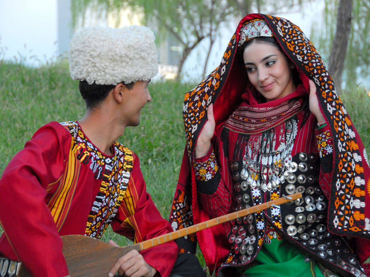 wedding ideas with purple turkmenistan members of a national wear 27783