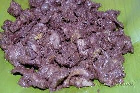 Dinardaraan a pato. An Ilocano exotic dish made with duck meat and pork blood.