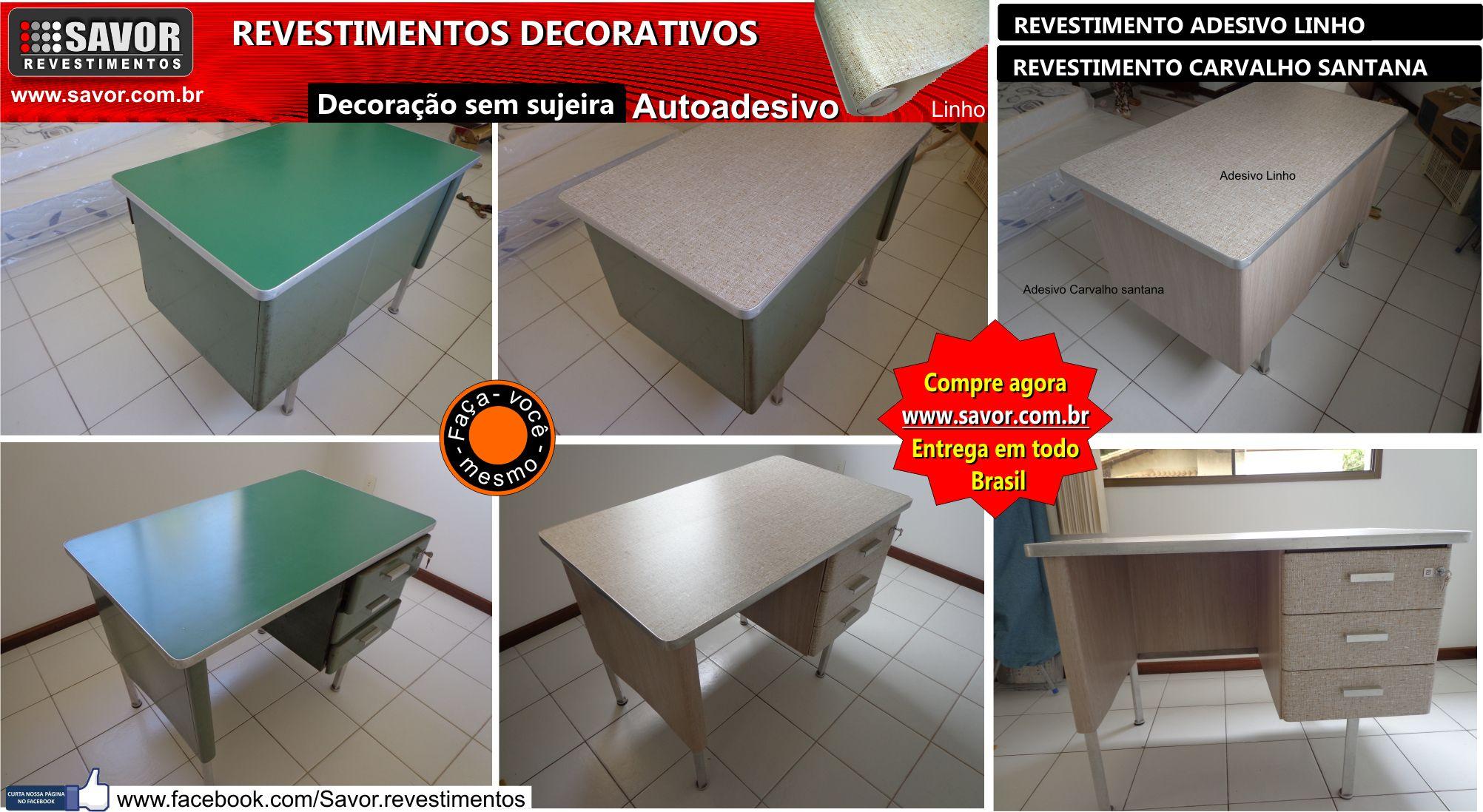 Armario Sala Para Tv ~ Adesivo linho, aplicado em mesa de aço Revestimento em PVC vinílico, autoadesivo com texturas