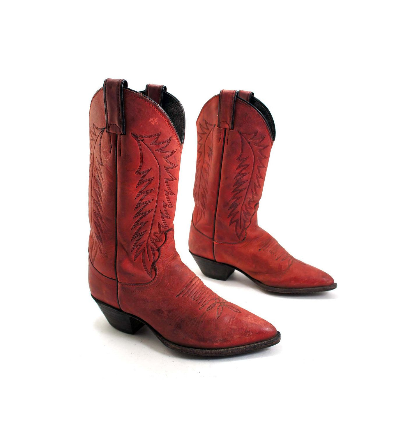 Womens Red Cowboy Boots Cheap - Yu Boots