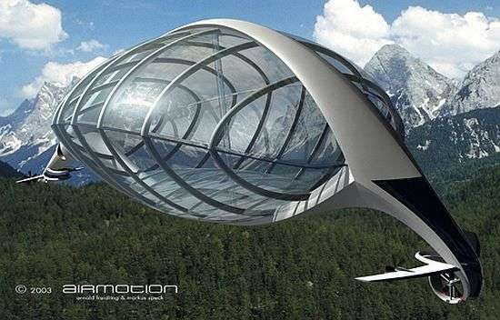 The Airmotion Airship Helps Explore Untouched Wilderness #eco #vehicles trendhunter.com