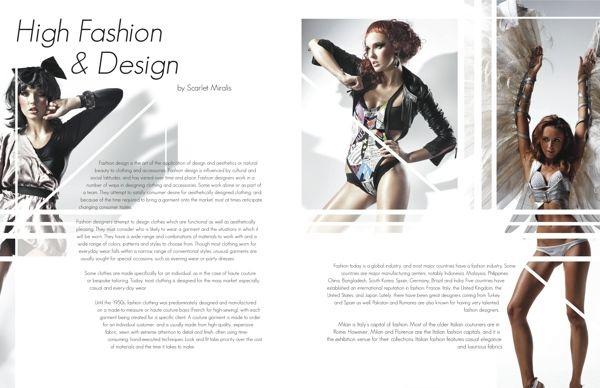 high fashion magazine spread on behance design type