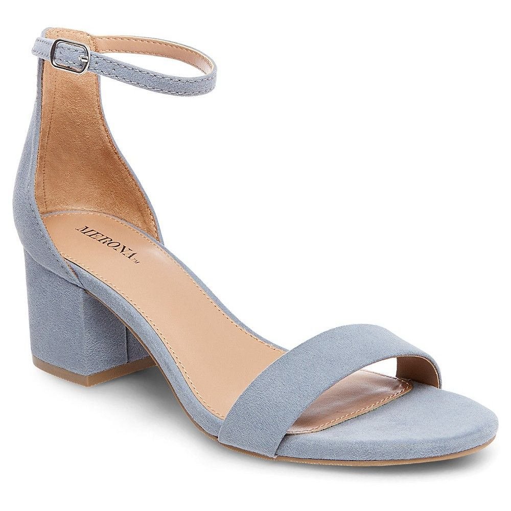 e046a82b078 Women s Marcella Low Block Heel Pumps with Ankle Straps Merona - Blue 6