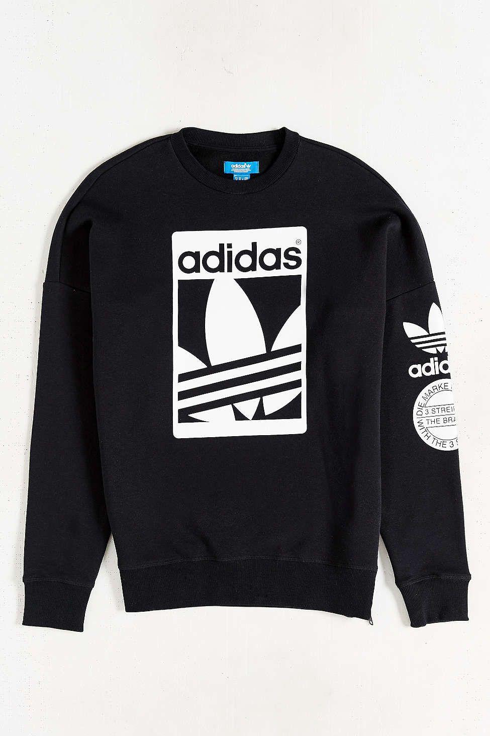 adidas Originals Box Trefoil Graphic Sweatshirt | Gym outfit