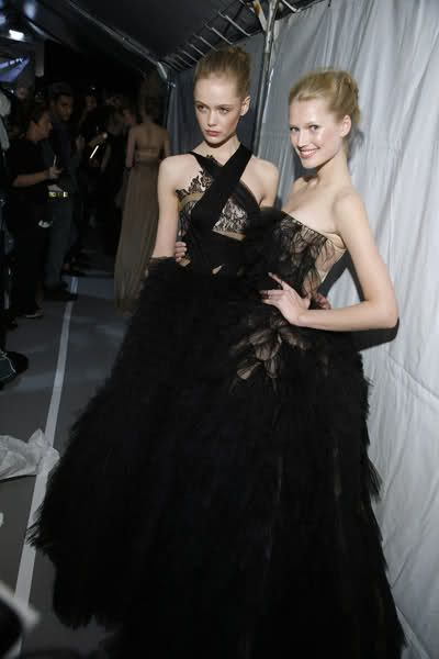 Backstage and Beauty at Valentino HC F.W 90-10.