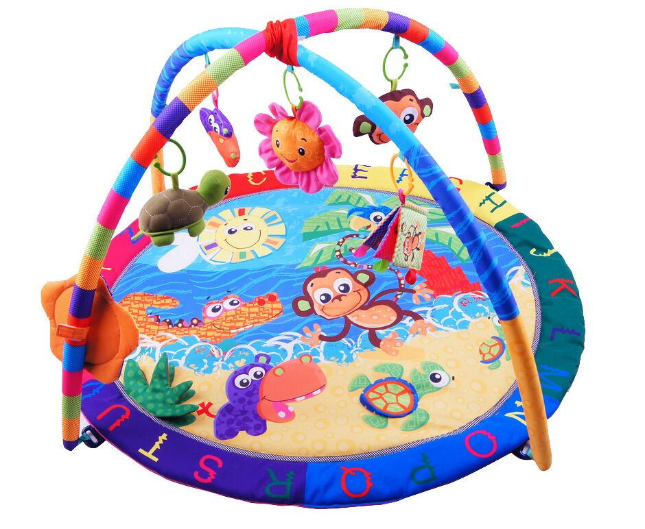 Baby Activity Play Mat Baby Gym Educational Fitness Frame Multi ...