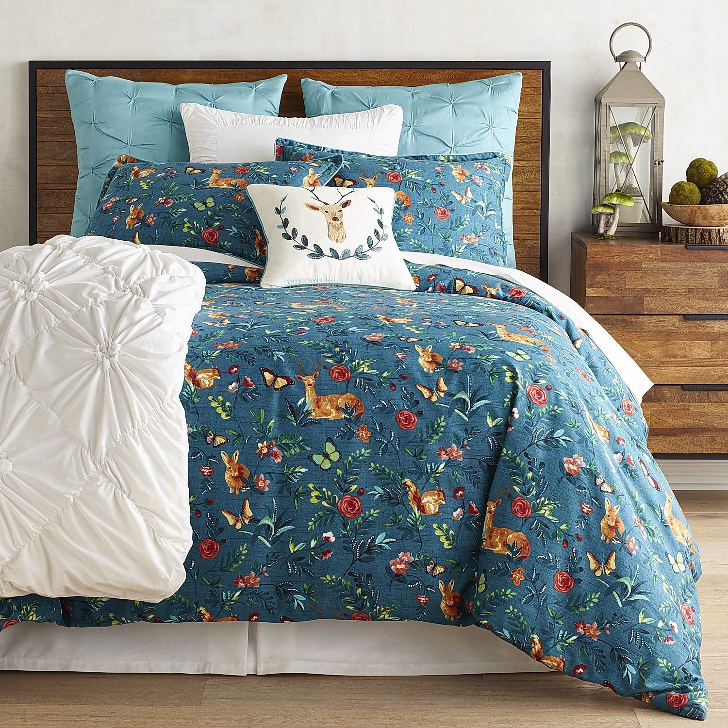 king covers cover cotton duvet double sets teal bed