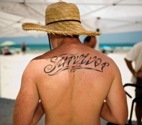 Survivor Tattoos: Cancer Free Since June, 2011