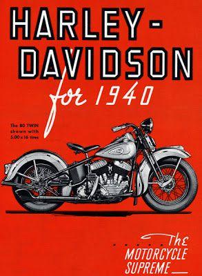 Harley Davidson Advertising 1940 S Vintage Motorcycle Posters Harley Davidson Museum Harley Davidson