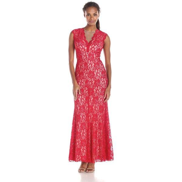 Xscape Long Dress Red