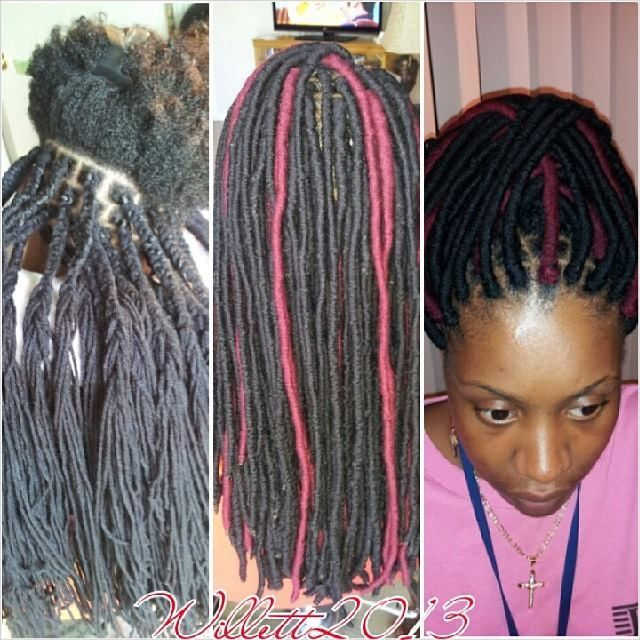 Fantastic Process Of The Faux Dreads Wraps Yarn Twist Dreads Wraps Hairstyle Inspiration Daily Dogsangcom