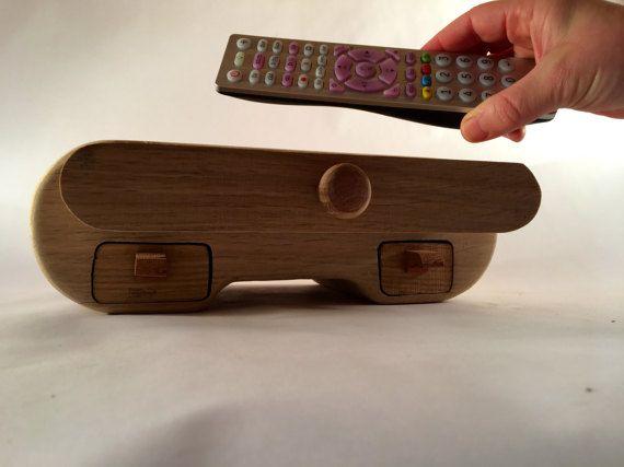 Genial Wooden Storage Box TV Remote Box Battery от Austinwoodandmetal