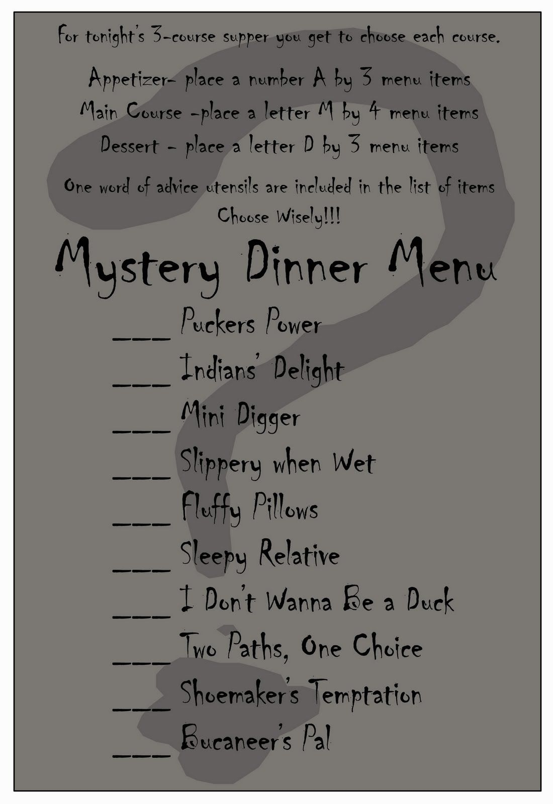 Halloween Dinner Party Menu Ideas Part - 48: Mystery Dinner Date Night~ I Am Iu0027m Love With This Idea.