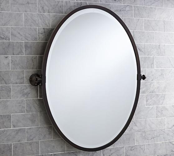 Kensington Pivot Oval Mirror Oval Mirror Farmhouse Bathroom