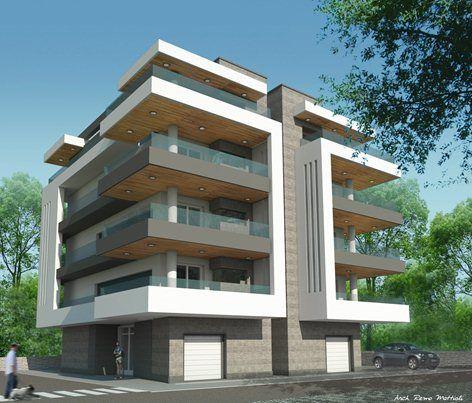 Edificio residenziale n di alloggi 9 n di edifici 1 for Progetti appartamenti moderni