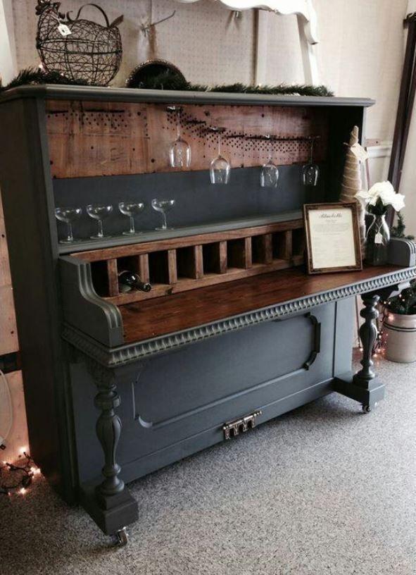 HomelySmart | 13 gebrauchte Klavierstimmen in brauchbaren Materialien – HomelySmart – #b … - UPCYCLING IDEEN #recyclingfurniture