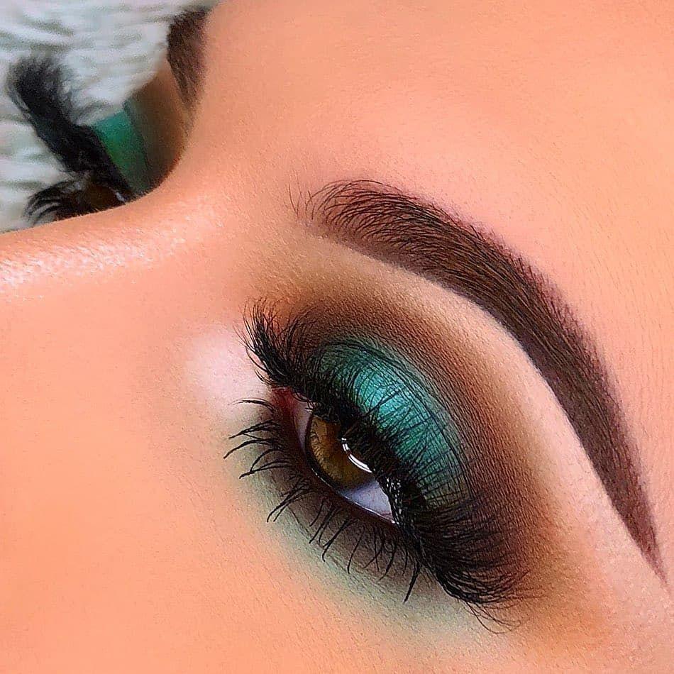 Emerald tones Tonos esmeralda Emerald eye makeup
