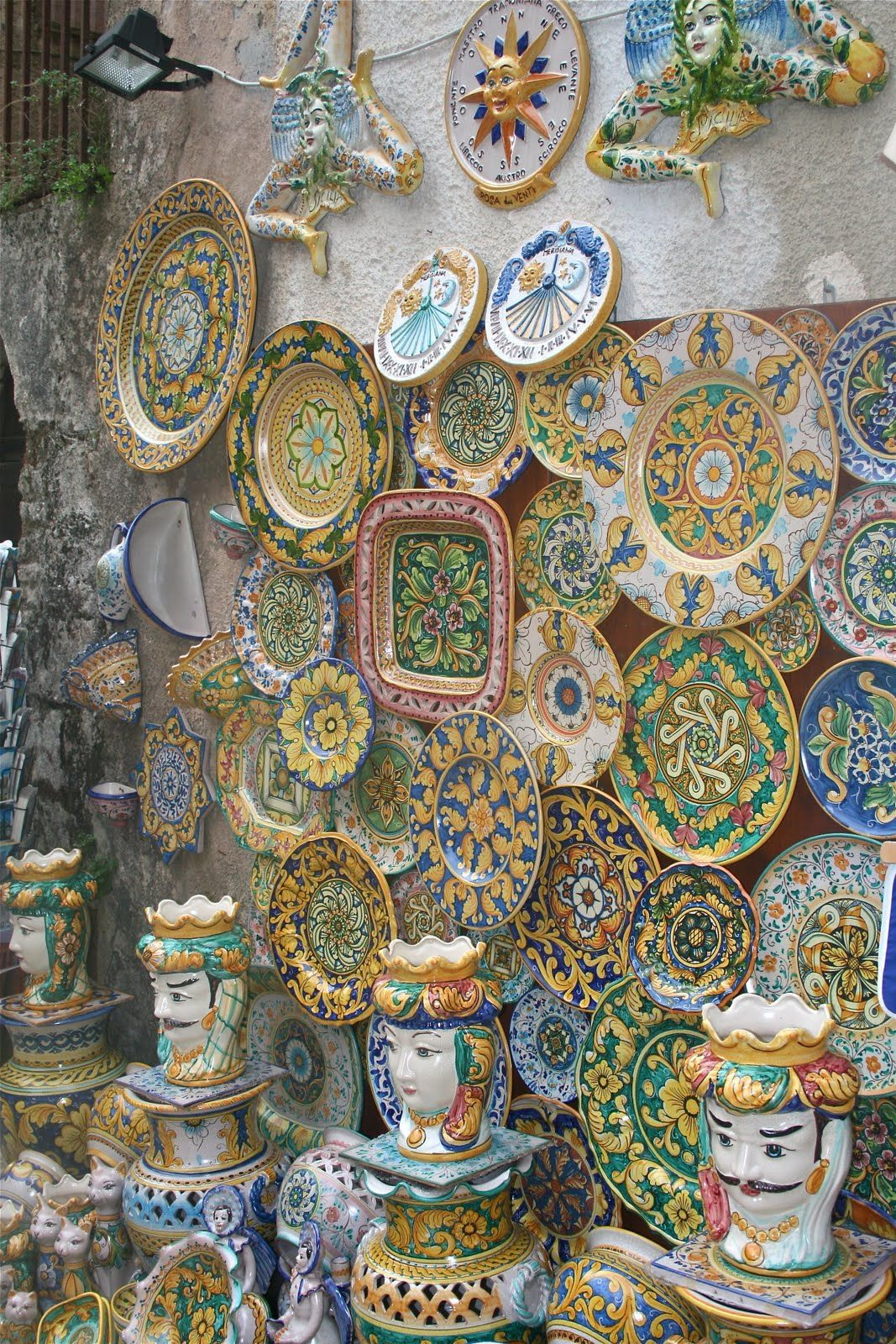 Erice, Sicily...known for their ceramic paint ware...