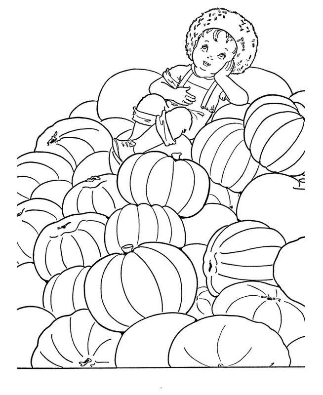 Ausmalbilder Herbst Kürbis: Ausmalbild Herbst Ausmalbilder