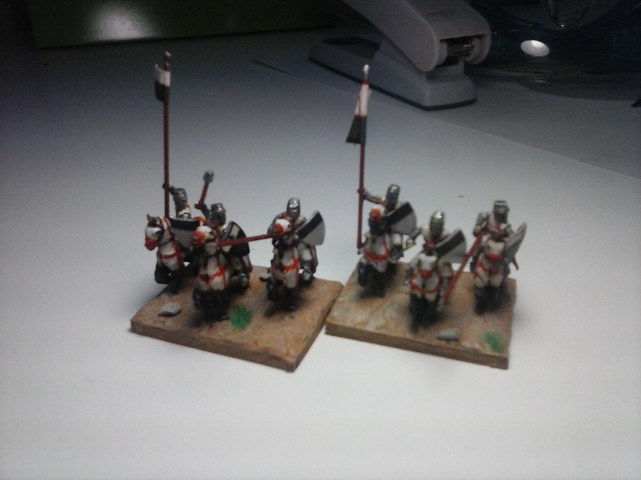 Caballeros Templarios DBA 15 mms, figuras de Mirliton