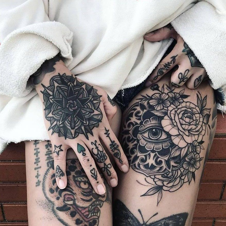 Hand Tattoo Ideas For Girls Best Female Hand Tattoos Hand