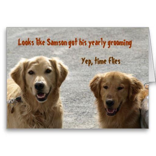 Golden Lab Friends Birthday Card