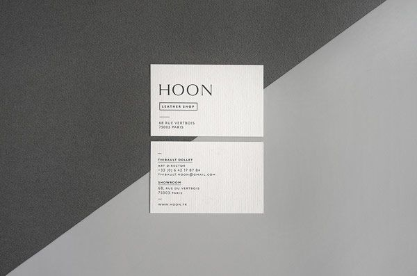 Hoon leather shop branding by say what studio pinterest shop the business cards with front and backside design colourmoves