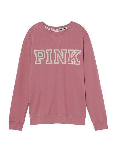 Victoria/'s Secret PINK Slouchy Crew Pullover Sweatshirt Mint Green XS