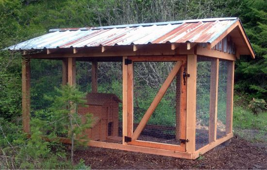 Nw Style Chicken Coop With Rustic Metal Roof Craigslist Hen House Chickens Backyard Chicken Coop Building A