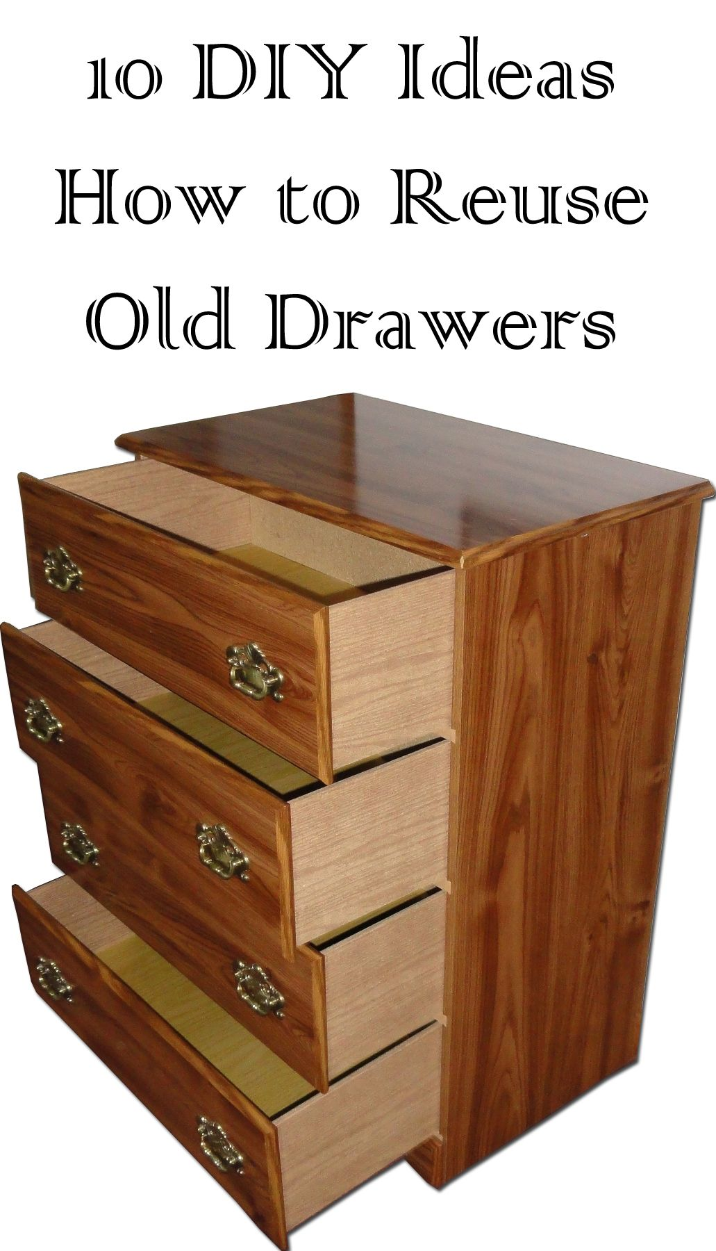 15 Smart Ways to Reuse Old Drawers Old dresser drawers
