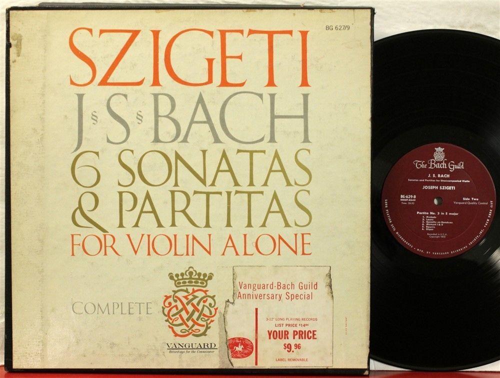 Vanguard BG 627/9 Szigeti Bach Sonatas & Partitas for solo violin red labels https://t.co/BW3PiHllvX https://t.co/zPrdlBPzbz