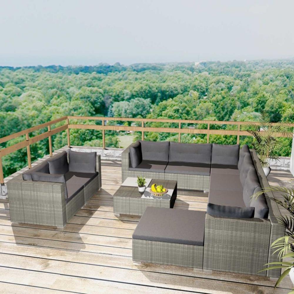Zestaw Rattanowych Mebli Ogrodowych Laczy W Sobie Styl I Funkcjonalnosc Oraz Z Pewnoscia Stanie Sie Centralnym P Garden Sofa Set Outdoor Lounge Set Garden Sofa
