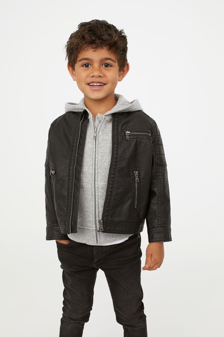 Biker Jacket Black Kids H M Us Boy Fashion Toddler Girl Outfits Baby Boy Fashion [ 1152 x 768 Pixel ]