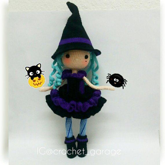 Crochet doll pattern / Amigurumi doll pattern – GLINDA