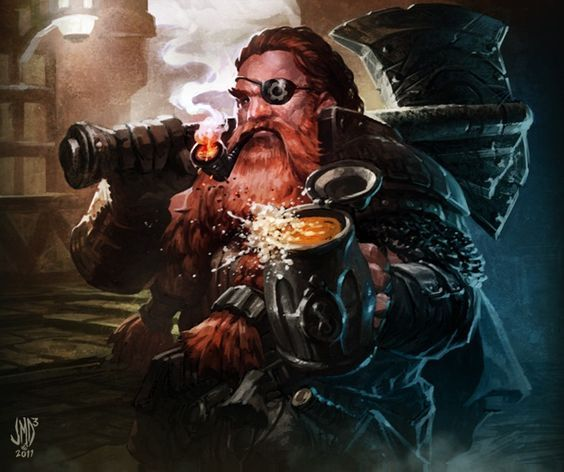 Bilderesultat for fantasy dwarf beer