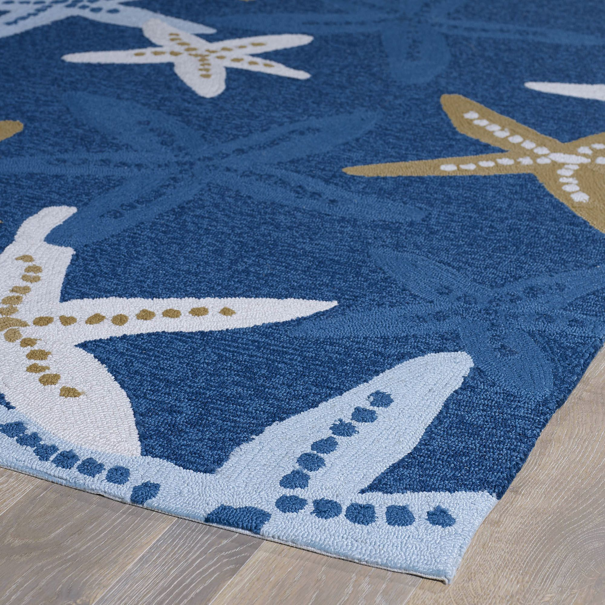 Beach Themed Kitchen Rugs Home Matira Indoor Outdoor Starfish